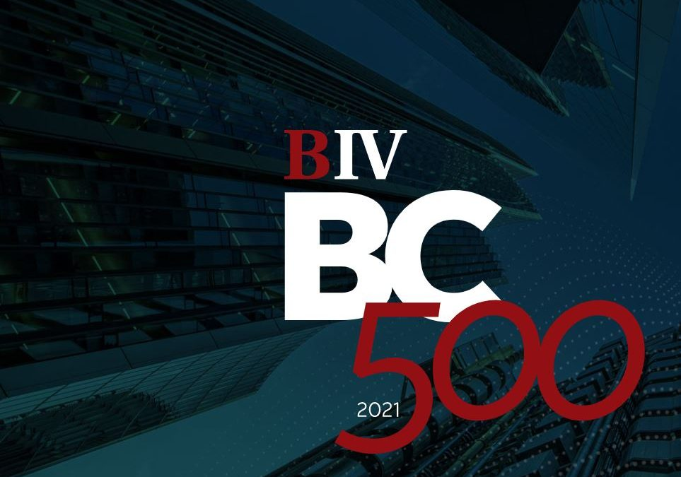 Cindy featured in Business in Vancouver's BC500